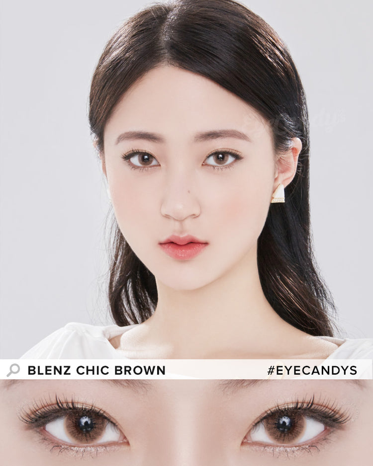Buy GEO Chic Brown Prescription Coloured Contacts | EyeCandys