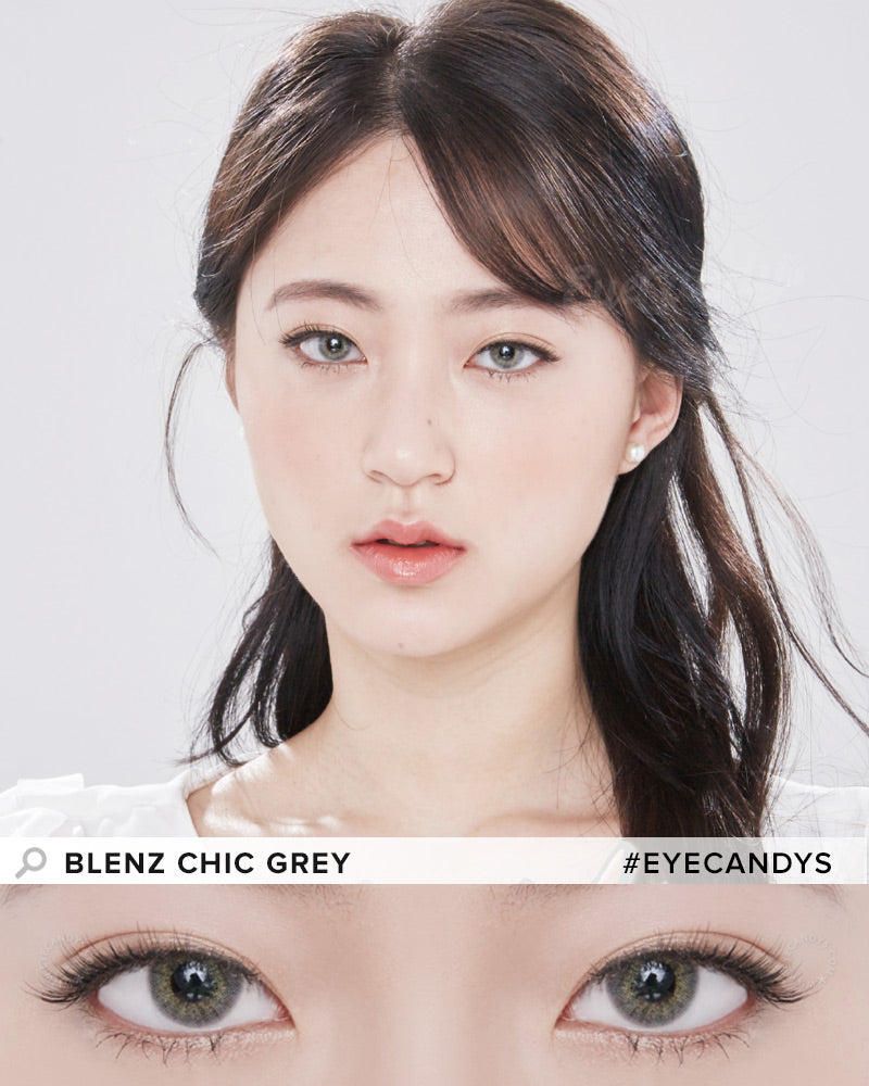 GEO Blenz Chic Grey colored contacts circle lenses - EyeCandy's
