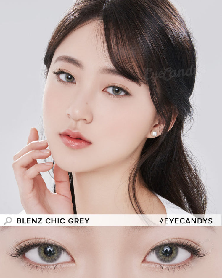 Buy GEO Chic Grey Prescription Coloured Contacts | EyeCandys