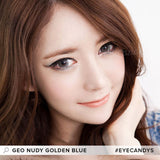GEO Nudy Golden Blue 1 pair (2 lenses) non prescription - EyeCandy's