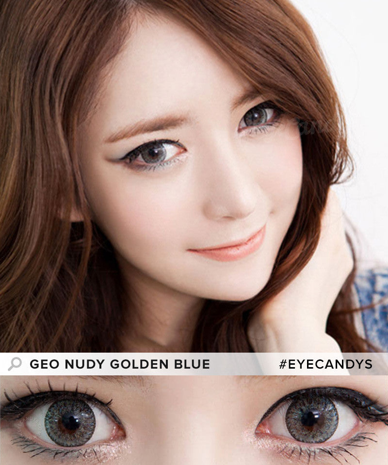 Buy GEO Nudy Golden Blue Colored Contacts | EyeCandys