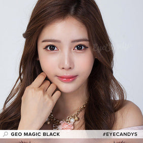 GEO Magic Black colored contacts circle lenses - EyeCandy's