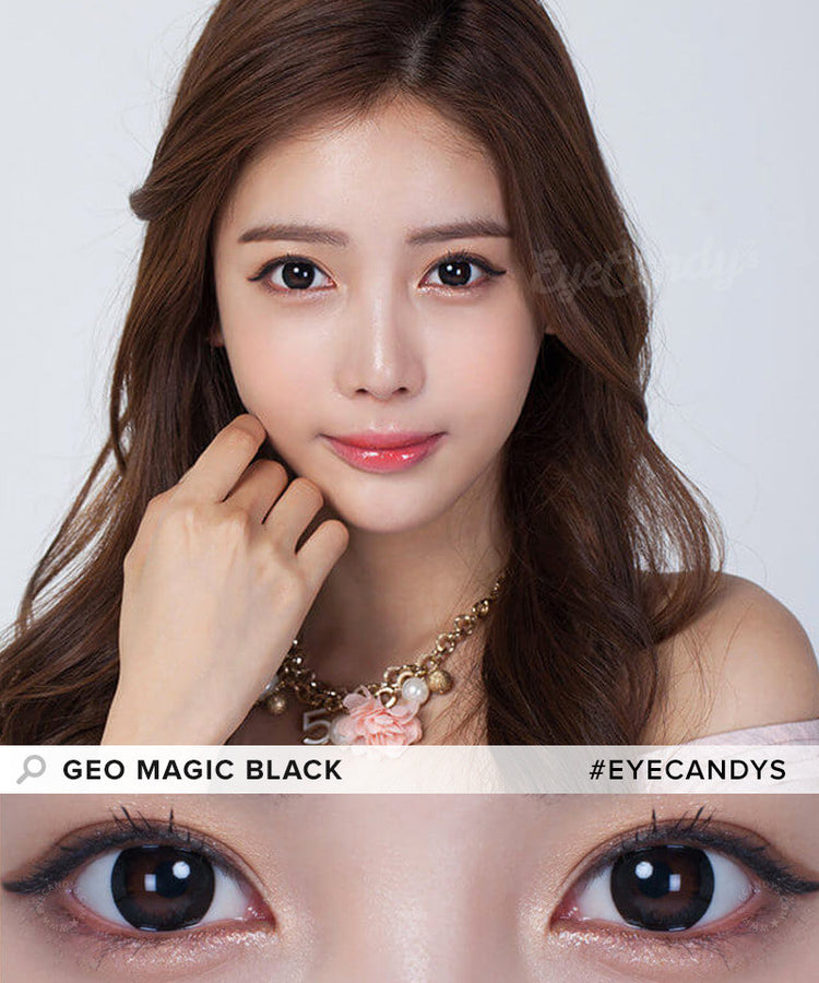 Buy GEO 1-Tone Circle Lenses Magic Black Circle Lenses | EyeCandys