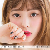 GEO Princess Black 1 pair (2 lenses) non prescription - EyeCandy's