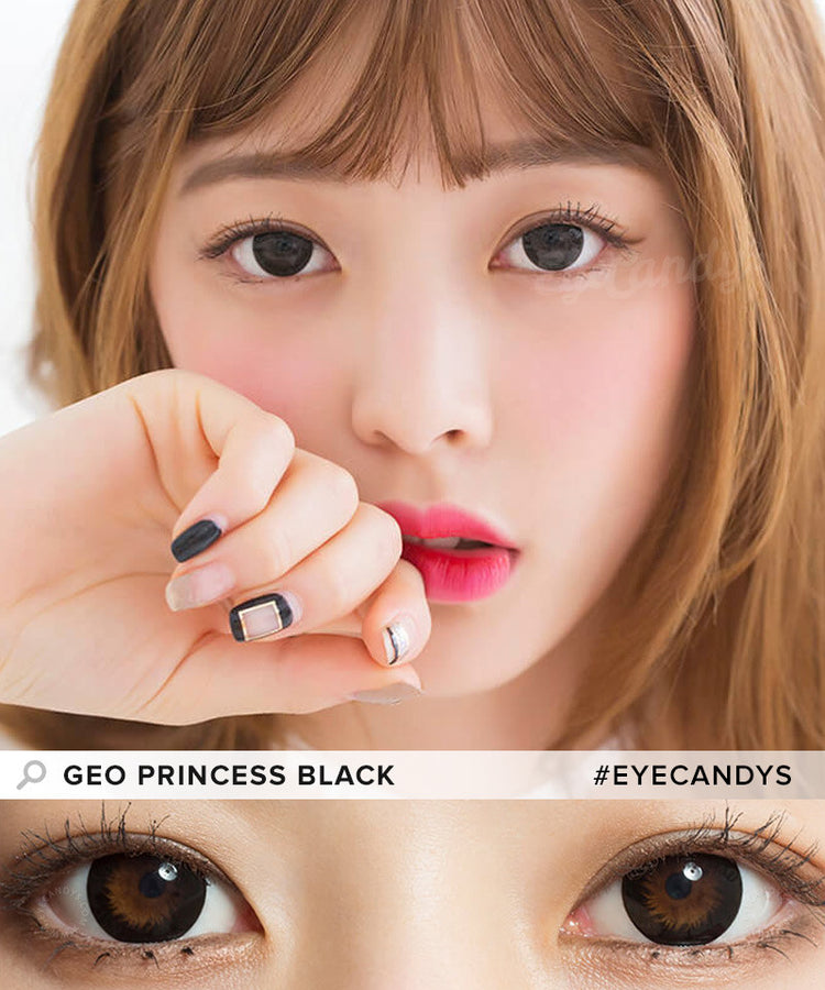 Buy GEO 1-Tone Circle Lenses Princess Black  | EyeCandys