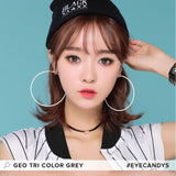 GEO Tri-Color Grey colored contacts circle lenses - EyeCandy's
