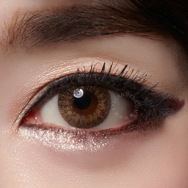 Buy Geo Tri Color Brown Colored Contacts Eyecandys