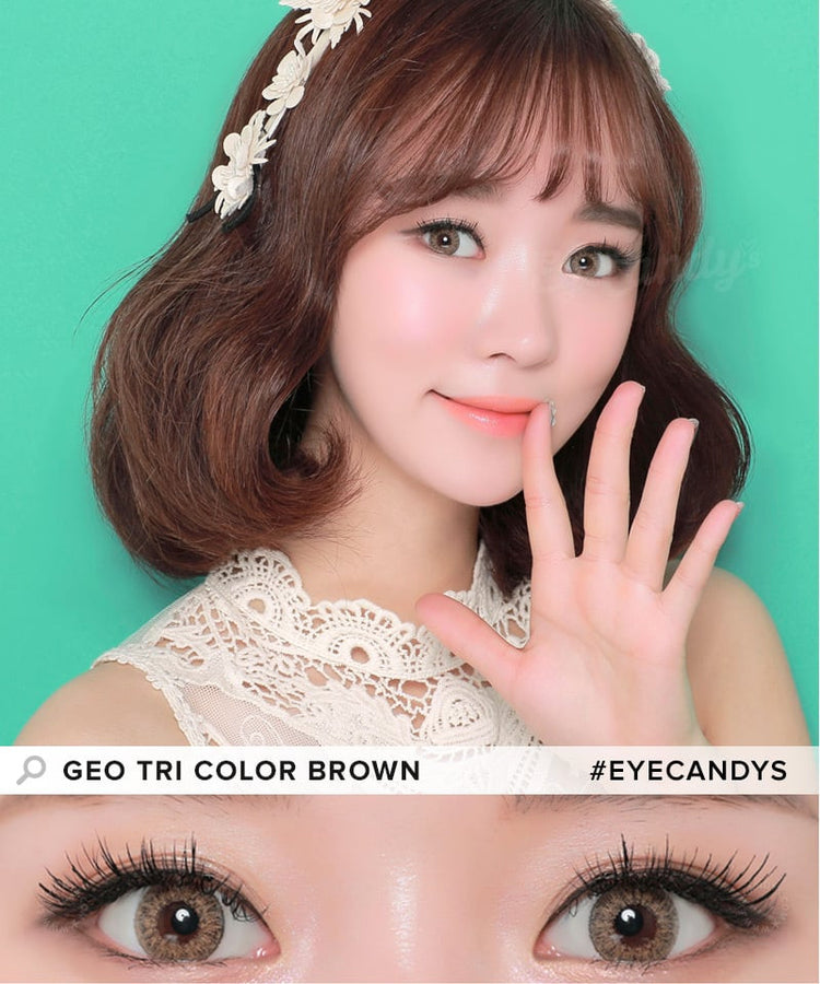 Buy GEO Tri-Color Brown Colored Contacts | EyeCandys