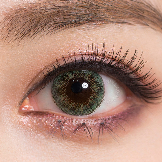 Buy Geo Tri Color Green Colored Contacts Eyecandys