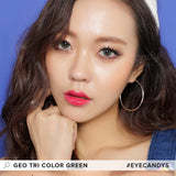 Load image into Gallery viewer, GEO Tri-Color Green colored contact lenses - EyeCandys