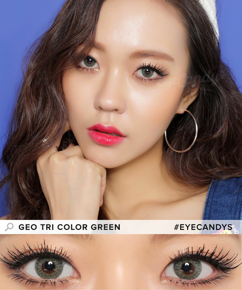 Buy GEO Tri-Color Green Colored Contacts | EyeCandys