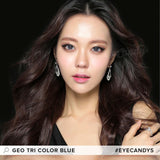 Load image into Gallery viewer, GEO Tri-Color Blue colored contact lenses - EyeCandys
