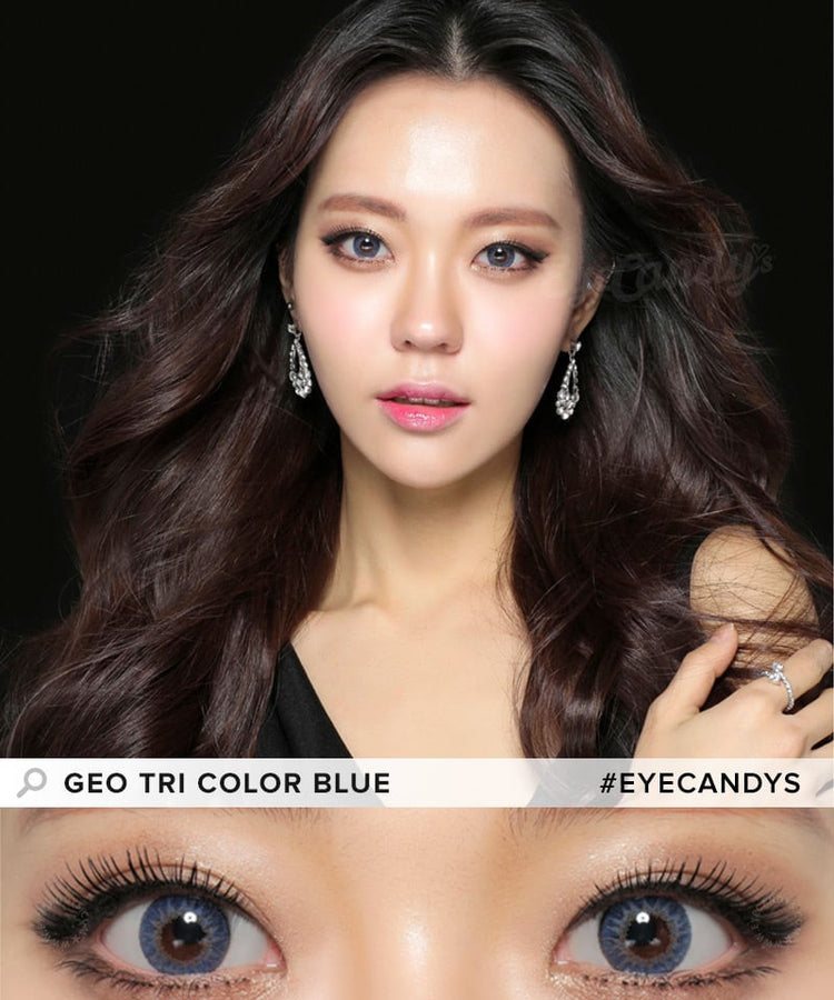 Buy GEO Tri-Color Blue Colored Contacts | EyeCandys