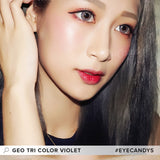 Load image into Gallery viewer, GEO Tri-Color Violet colored contact lenses - EyeCandys
