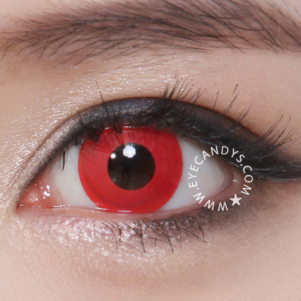 Non Prescription Colored Contacts >> Buy GEO Animation Blood Red Halloween Contact Lenses | EyeCandys