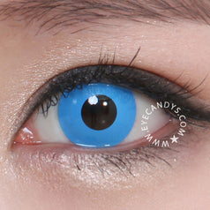 GEO Animation Neon Blue colored contacts circle lenses - EyeCandy's