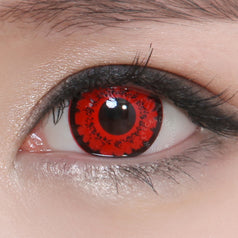 GEO Animation CP-S7 Red colored contacts circle lenses - EyeCandy's