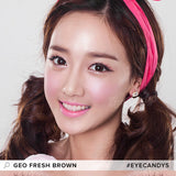GEO Fresh Brown 1 pair (2 lenses) - EyeCandy's