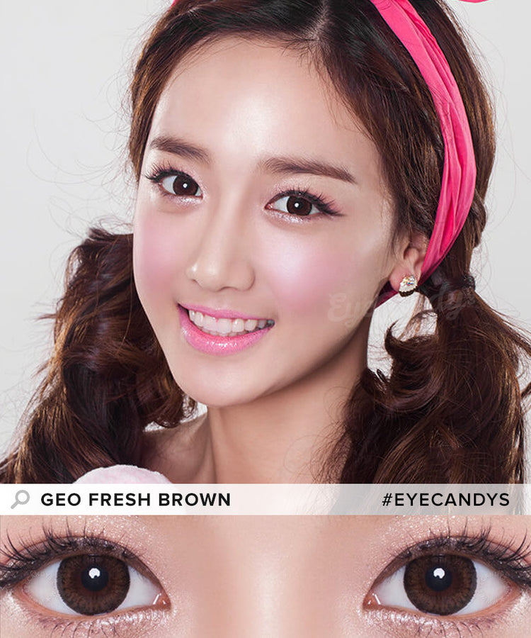 Buy GEO Fresh Brown Circle Lenses - GEO Lens | EyeCandys