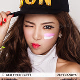 GEO Fresh Grey colored contacts circle lenses - EyeCandy's
