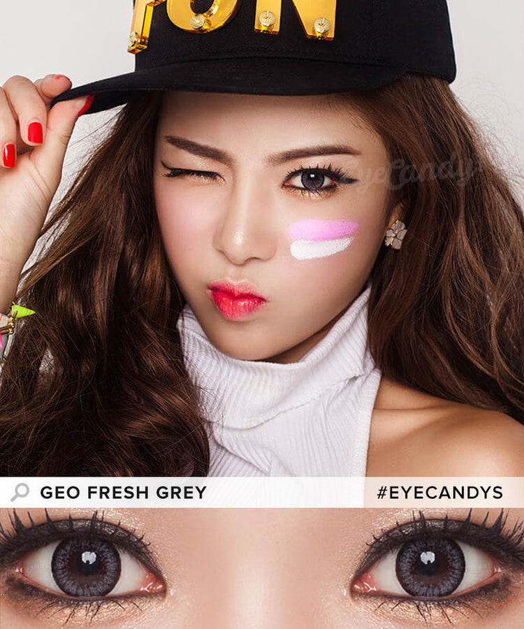 Buy GEO Fresh Grey Circle Lenses for Astigmatism | EyeCandys