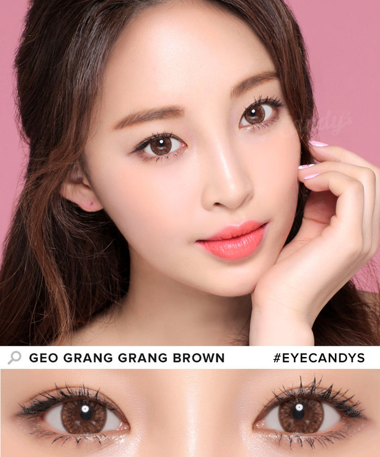 Buy GEO Grang Grang Brown Circle Lenses | EyeCandys