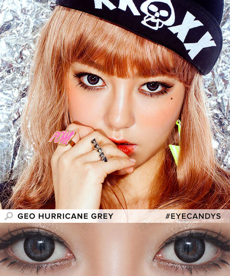 Buy GEO Hurricane Grey Colored Contacts | EyeCandys