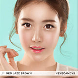 GEO Jazz Brown 1 pair (2 lenses) non prescription - EyeCandy's