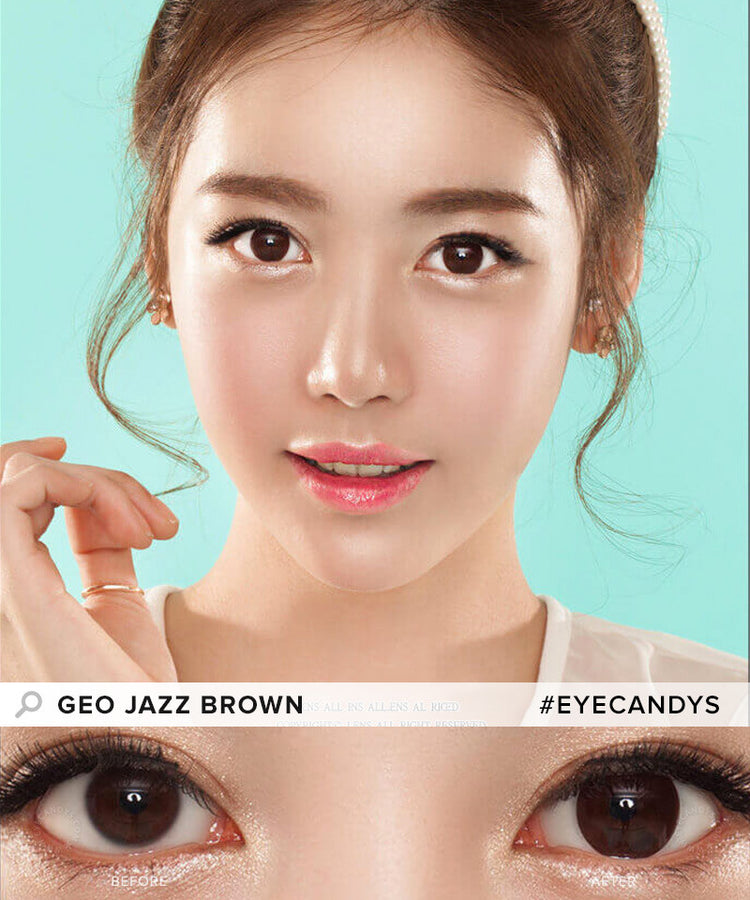 Buy GEO 1-Tone Circle Lenses Jazz Brown Colored Contacts | EyeCandys