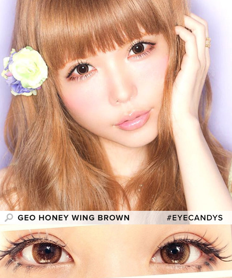 Buy GEO Wing Brown Circle Lenses | EyeCandys