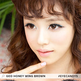 GEO Wing Brown colored contacts circle lenses - EyeCandy's