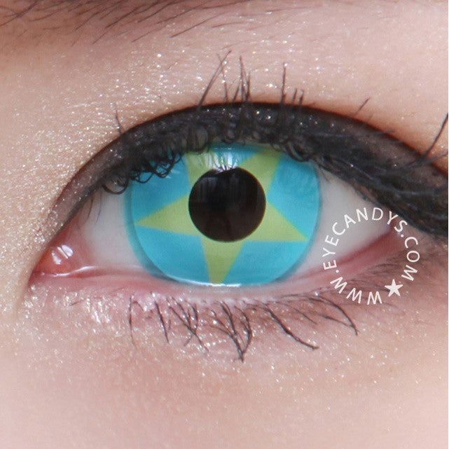 Buy GEO Animation Yellow Blue Star Costume Contact Lenses | EyeCandys