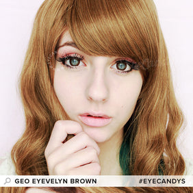 GEOLICA Eyevelyn Brown (KR) colored contact lenses - EyeCandys
