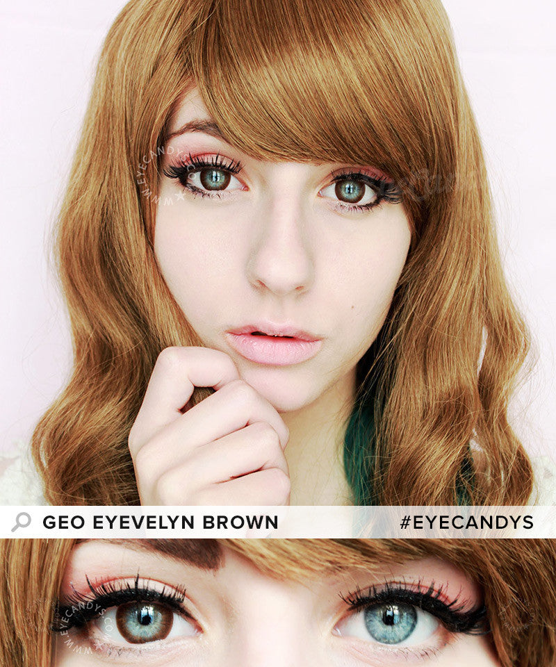 Buy GEO Eyevelyn Brown Silicone Hydrogel Contacts | EyeCandys