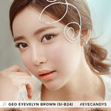 GEO Eyevelyn Brown 1 pair (2 lenses) - EyeCandy's