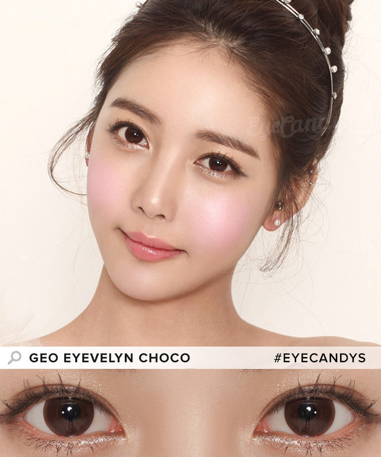 Buy GEO Eyevelyn Choco Silicone Hydrogel Contacts | EyeCandys