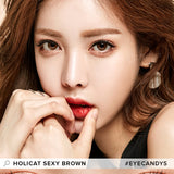 GEO Holicat Sexy Brown colored contacts circle lenses - EyeCandy's