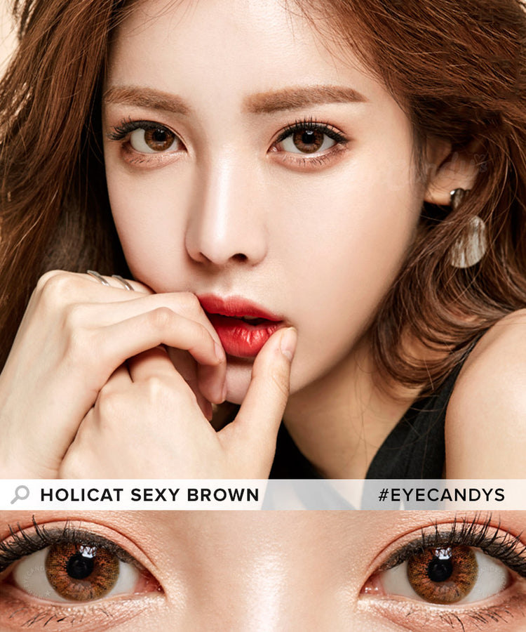 GEO Holicat Sexy Brown Coloured Contacts | EyeCandy's