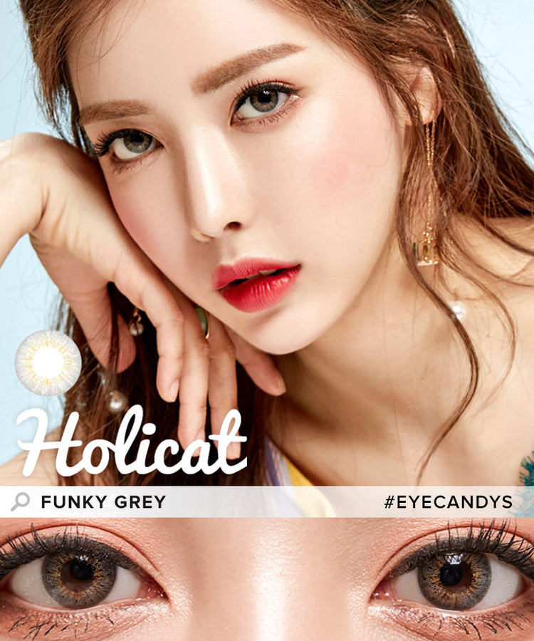 GEO Holicat Funky Grey Coloured Contacts