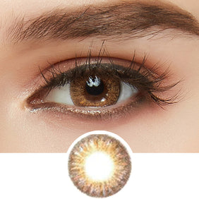 GEO Tri-Color Brown colored contact lenses - EyeCandys
