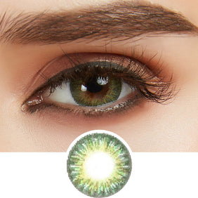 GEO Tri-Color Green colored contact lenses - EyeCandys