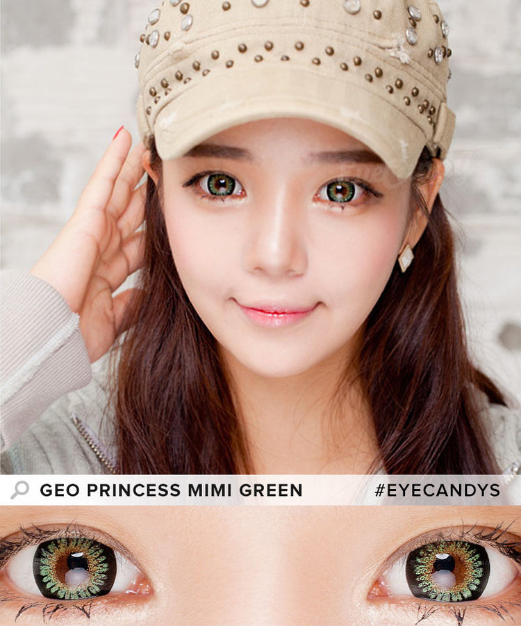 Buy GEO Princess Mimi Apple Green Colored Contacts | EyeCandys