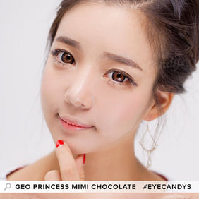 GEO Princess Mimi Chocolate Brown colored contacts circle lenses - EyeCandy's