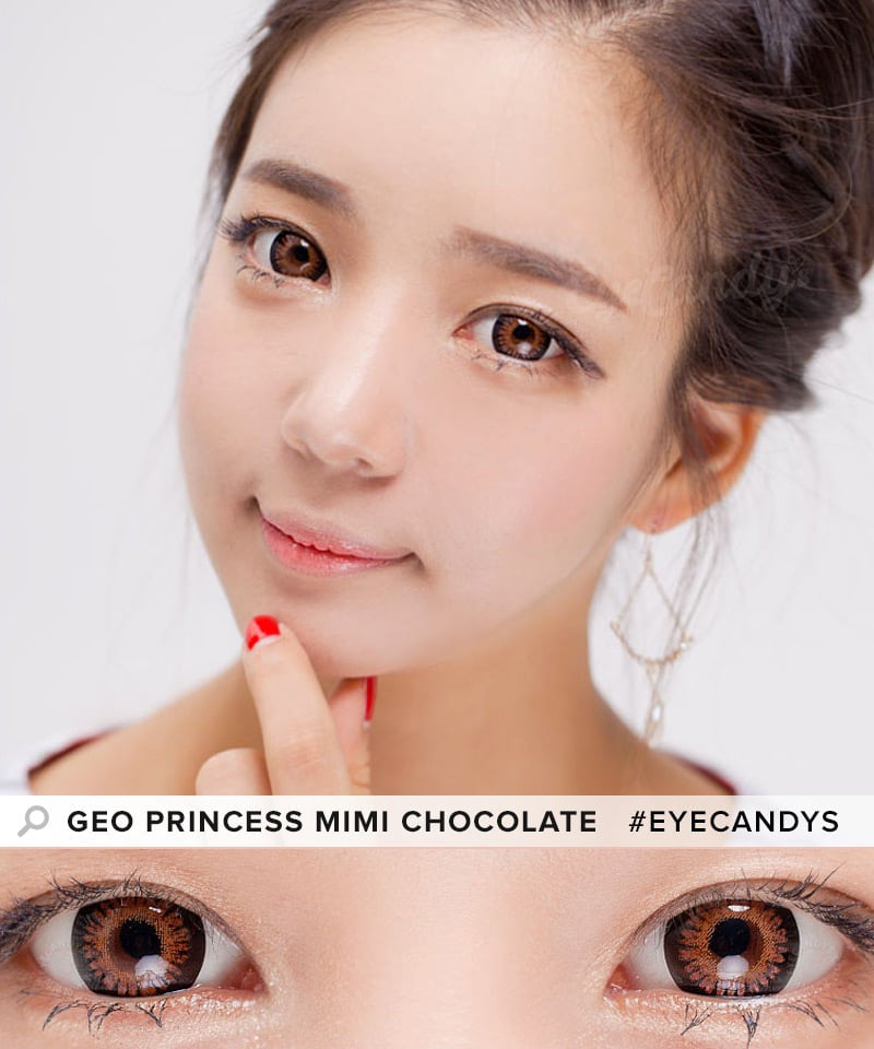 Buy GEO Princess Mimi Chocolate Brown Colored Contacts | EyeCandys