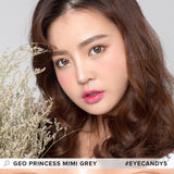 GEO Princess Mimi Sesame Grey colored contacts circle lenses - EyeCandy's