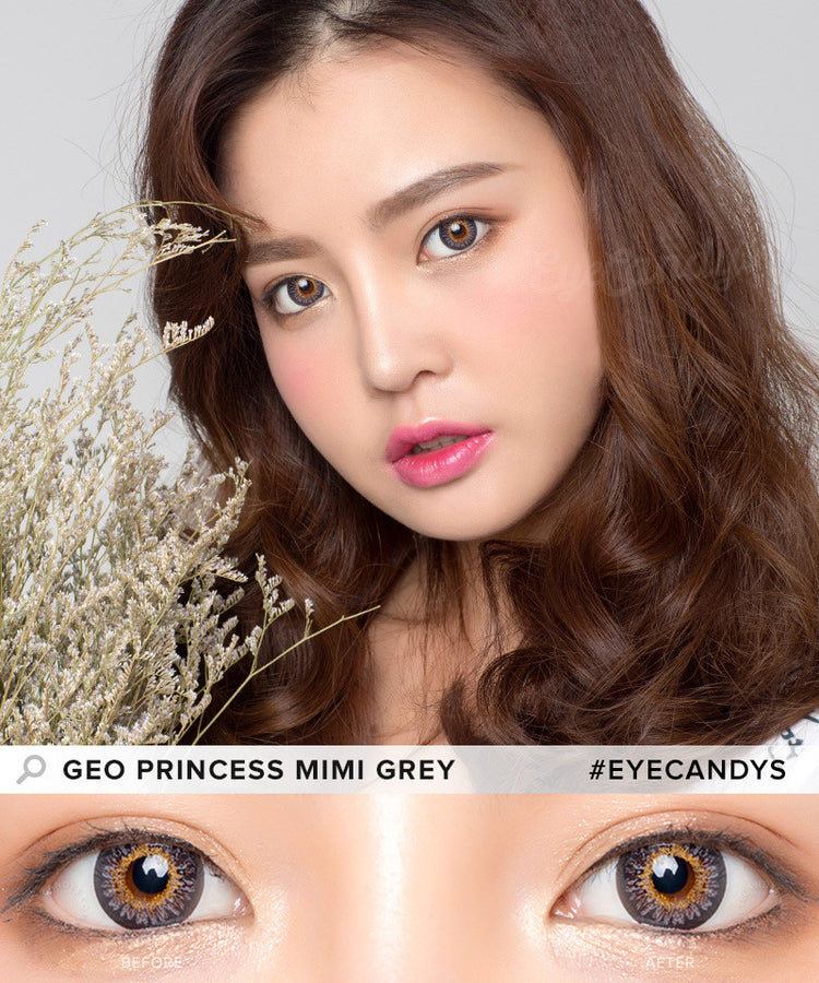 Buy GEO Princess Mimi Sesame Grey Colored Contacts | EyeCandys