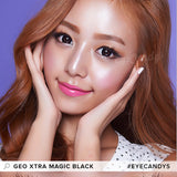 GEO Extra Magic Black colored contacts circle lenses - EyeCandy's