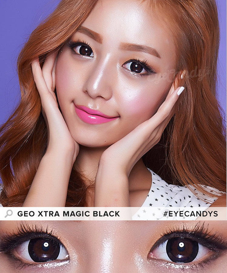 Buy GEO 1-Tone Circle Lenses Extra Magic Black  | EyeCandys