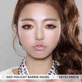 Load image into Gallery viewer, GEO Holicat Barbie Cat Hazel colored contact lenses - EyeCandys