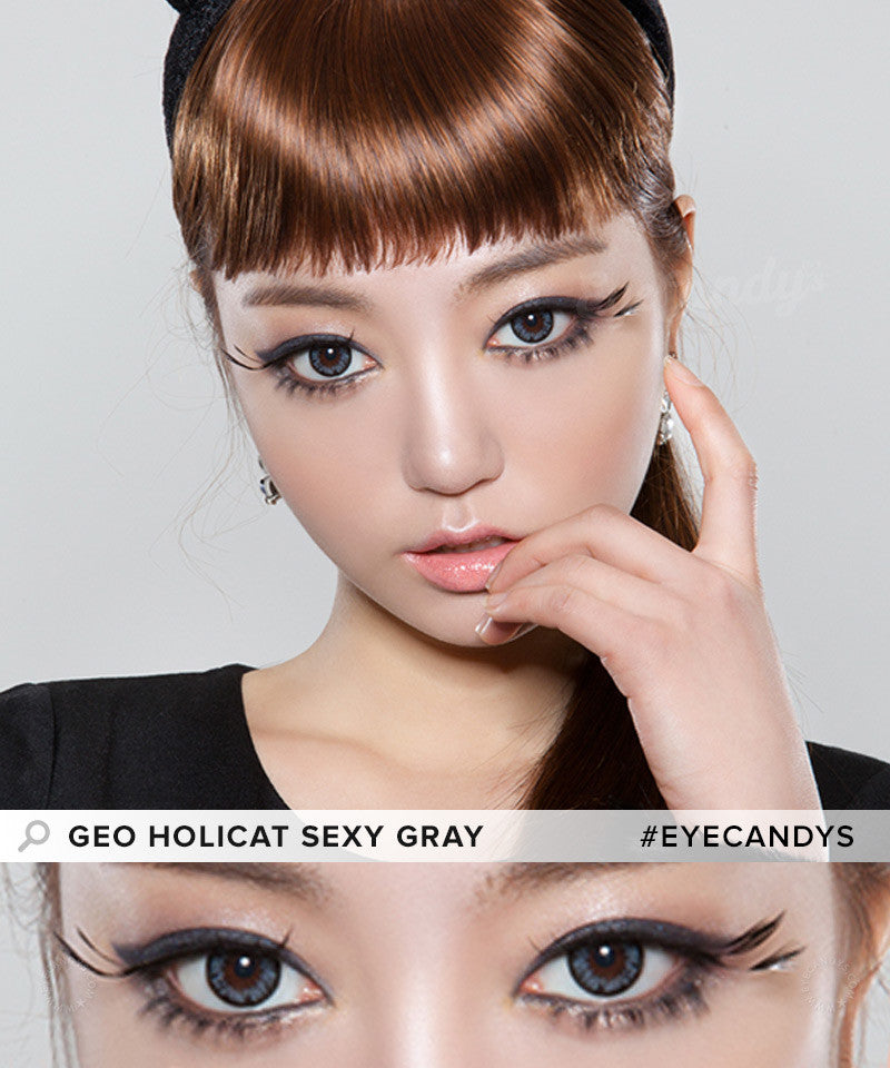 Buy GEO Holicat Sexy Cat Grey Colored Contacts | EyeCandys